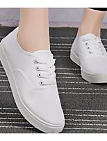 Для женщин Мокасины и Свитер Удобная обувь Полотно Весна Лето Повседневные Удобная обувь Белый Черный На плоской подошве