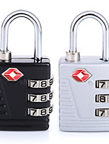 MLJ-96036 Zinc Alloy TSA Lock 3-Digit Password Digital Lock Couple On The Suitcase Luggage Luggage Lock Lock Abroad Travel Padlock Dail Lock Password