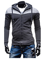 Men's Sports Casual/Daily Hoodie Solid Patchwork Hooded strenchy Cotton Long Sleeve Spring Fall Winter