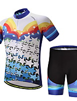 Cycling Jersey with Shorts Men's Bike Clothing Suits Ventilation Quick Dry Back Pocket Spring/Fall Summer Cycling/Bike