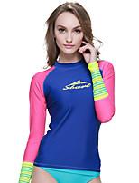 SBART Damen Neoprenanzug Chinlon Taucheranzug Langarm Tauchanzüge Oberteile-Tauchen Surfen Wassersport Ganzjährig Druck