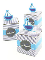 Sailboat  baby shower candy box birthday party decorations kids birthday party show gift box party supplies