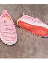 Girls' Flats First Walkers Tulle Spring Fall Casual Walking First Walkers Magic Tape Low Heel Blushing Pink Army Green Flat