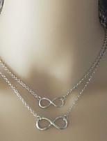 Collier en couches pour femmes en alliage de zinc bijoux de base pour le bureau / travail professionnel