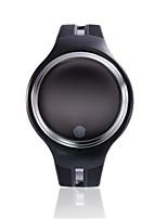 Per uomo Smart watch Orologio alla moda Digitale Resistente all'acqua Gomma Banda Nero Bianco