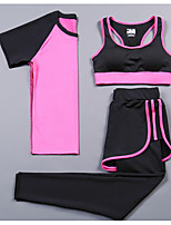 Women's Short Sleeve Running Compression Clothing Tracksuit Cycling Fitness, Running & Yoga Boating Help to lose weight Running SportsAll