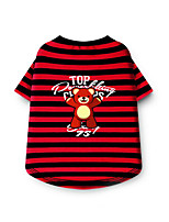 Dog Shirt / T-Shirt Dog Clothes Casual/Daily Stripe Red Blue Blushing Pink