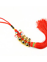 Bag / Phone /  Keychain Charms Chinese Knot Gourd Tassels  Copper DIY for iPhone 8 7 Samsung Galaxy s8 s7