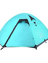 3-4 personnes Tente Double Tente pliable Une pièce Tente de camping 1500-2000 mm Nylon Taffetas en PolyesterEtanche Résistant à la