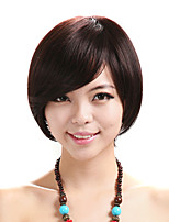 Capless Short Straight Wig Black Women Daily Costume Wig Cosplay Wig