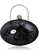 Women Evening Bag Polyester All Seasons Wedding Event/Party Formal Oval Appliques Clasp Lock Red Silver Black Gold Blue