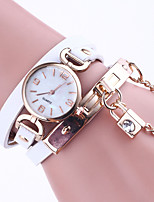 Women's Bracelet Watch Chinese Quartz Leather Band Elegant Black White Blue Red Brown Grey Pink Rose
