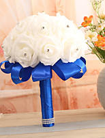 Wedding Flowers Bouquets Wedding Elastic Satin 7.87