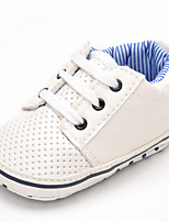 Baby Flats Comfort Leatherette Spring Fall Wedding Casual Outdoor Party & Evening Comfort Gore Flat Heel White Flat