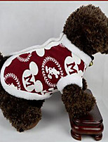 Dog Coat Dog Clothes Party Keep Warm Geometric Ruby