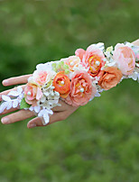 YUXIYING Wedding Flowers  Roses Long Wrist Corsages Wedding Party Orange