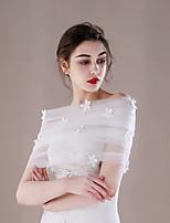 Etoles de Femme Capelets Tulle Mariage Fête/Soirée Applique Plissé Perles