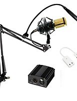 Professional Condenser Microphon BM 800  Pro Audio Studio Vocal Recording With Metal Shock Mount And Pop Filter
