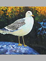 IARTS® Hand Painted Modern Abstract Walking Seagull Oil Painting On Canvas with Stretched Frame Wall Art For Home Decoration Ready To Hang