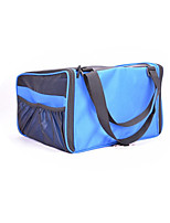 Chat Chien Sac de transport Animaux de Compagnie Transporteur Portable Respirable Pliable Couleur Pleine Bleu