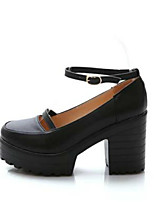 Для женщин Обувь на каблуках Удобная обувь Полиуретан Весна Повседневные Удобная обувь Черный 9,5 - 12 см