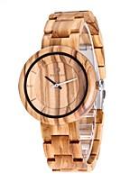 Муж. Часы Дерево Японский Кварцевый деревянный Дерево Группа Люкс Элегантные часы Бежевый