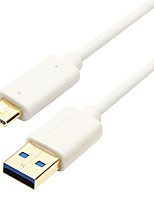 USB 3.1 Tipo C Cable, USB 3.1 Tipo C to USB 3.0 Cable Macho - Macho 1,0 m (3 pies)