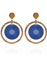 Women's Drop Earrings Earrings Set Earrings Jewelry Basic Circular Unique Design Cute Style Adorable Simple Style DIY Wood Round Jewelry