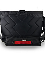 Men Shoulder Bag Polyester All Seasons Casual Outdoor Round Zipper Black