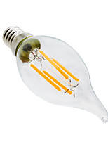 1 pcs YWXLight® Dimmable E14 LED Bulb CA35 4W Glass Shell 360 Degree Vintage LED Candle Light Edison LED Filament Lamp AC 220-240V