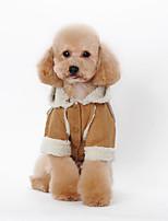 Hund Kapuzenshirts Hundekleidung Lässig/Alltäglich Britisch Kaffee Braun Rot Blau Rosa