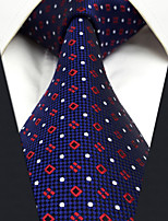 Men's Silk Neck Tie,Vintage Cute Party Work Casual Dots All Seasons