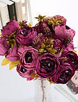 1 Филиал Недвижимость сенсорный Другое Пионы Букеты на стол Искусственные Цветы