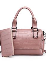 Donna sacchetto regola PU (Poliuretano) Per tutte le stagioni Casual Secchiello Cerniera Blu Nero Rosso Rosa