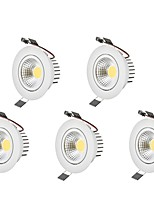 6W LED Downlights Warm White Cool White LED  AC 100-240V 5 pcs