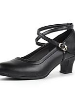 Women's Modern Cowhide Heels Indoor Splicing Customized Heel Ruby Black 2