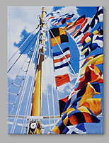IARTS® Modern Abstract Set Sail in a Bright Sunny Day Oil Painting On Canvas with Stretched Frame Wall Art For Home Decoration Ready To Hang