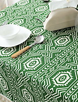 Bohemian Style Geometric Shapes Cotton And Linen Table Flag 32*160cm