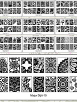 1Pcs Lace Pattern Nail Stamping Polish Printing High Quality Nail Art Template Lace Major Digit Stamp Stamping Image Plate With 10 Designs