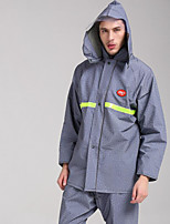 Motorcycle Raincoats Fashion Denim Reflective Raincoats Trousers Sets Breathable Split Raincoat