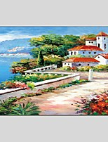 Landscape Style Canvas Material Oil Paintings with Stretched Frame Ready To Hang Size 60*90 CM