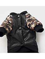 Dog Coat Dog Clothes Keep Warm Letter & Number Black