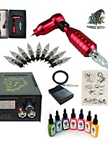 1 Set High Born Tattoo Kit HB1 1 Ratory Machine With 7x15ML Inks 5 Needles Power Supply Switch