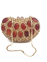 Women Luxuriant New Heart Design  Vintage Clutches Party Hand Purse