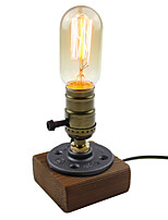 Vintage Loft Wood Wooden Table Lamp Light Edison Pear For Living Room Bedroom Night Residential Culture Coffee Shop Table Lamp