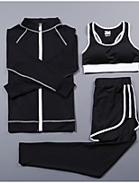Femme Manches Longues Course / Running Survêtement Sous-vêtement Ensemble de VêtementsCyclisme Fitness, course et yoga Extérieur Pour