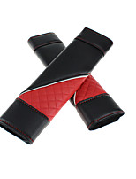 PU Car Seat Belt Cover Red Shoulder Pad