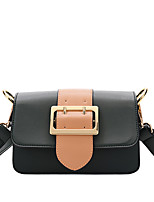 Women Shoulder Bag PU All Seasons Wedding Event/Party Casual Sports Formal Outdoor Office & Career Flap Metallic Buckle MagneticRed Black