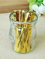 700 Pcs 8cm Color Food Wire / Packing Bag Sealing Strip / Golden Candy  Tie Wire
