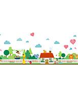 Animaux Botanique Stickers muraux Autocollants avion Autocollants muraux décoratifs,Papier Matériel Décoration d'intérieur Calque Mural
